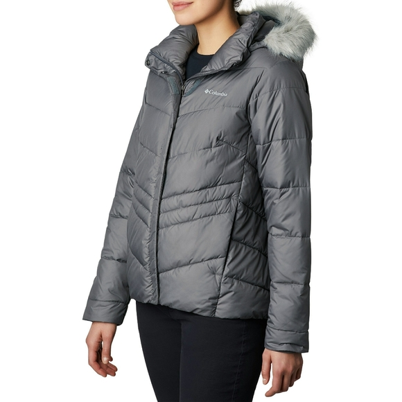 🆕 COLUMBIA Hooded Faux Fur Insulated Jacket Coat